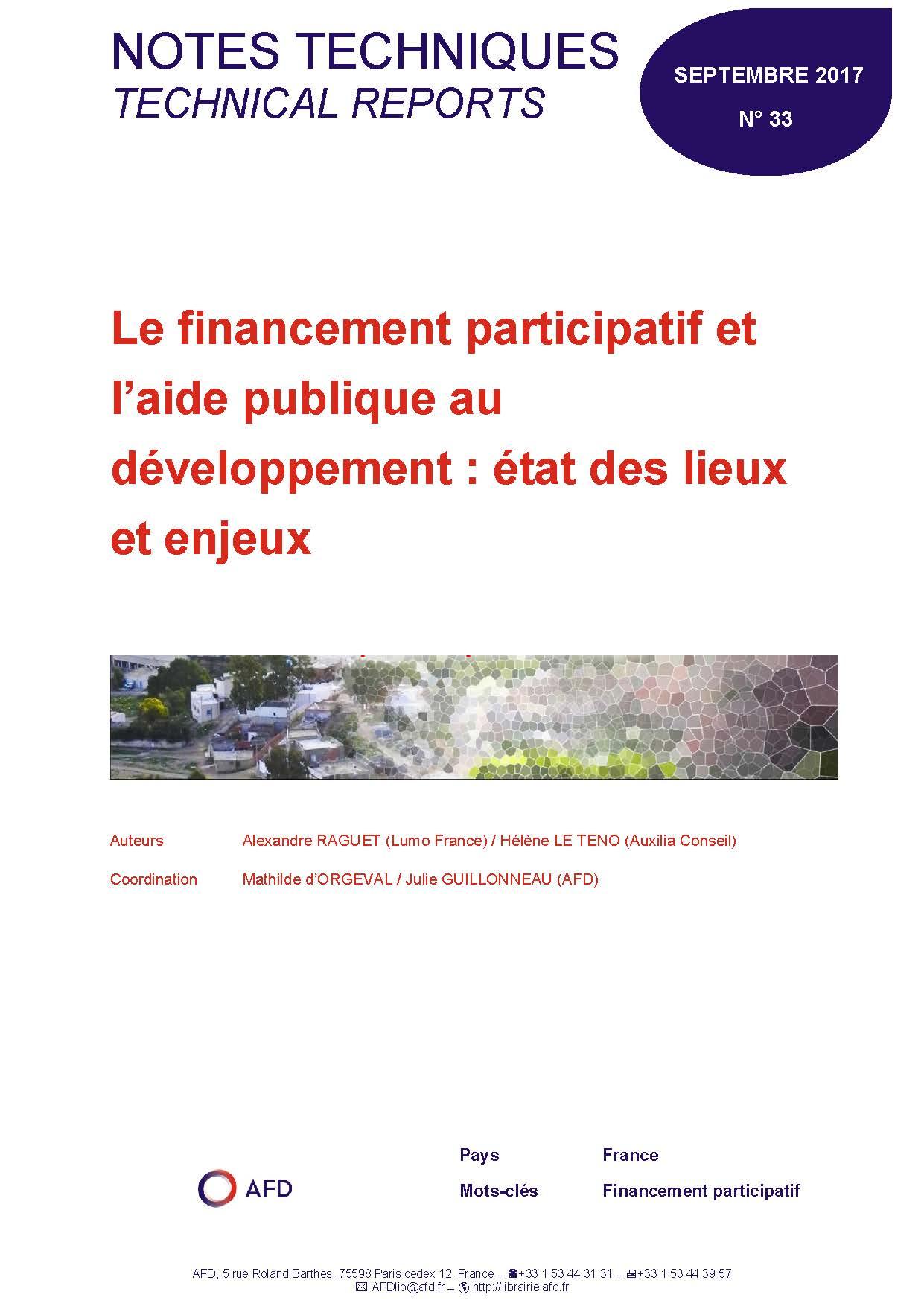 Le financement participatif et l aide publique au for Aide de financement
