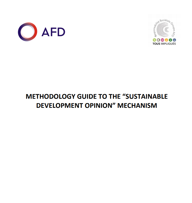 Methodology guide to the sustainable development opinion mechanism
