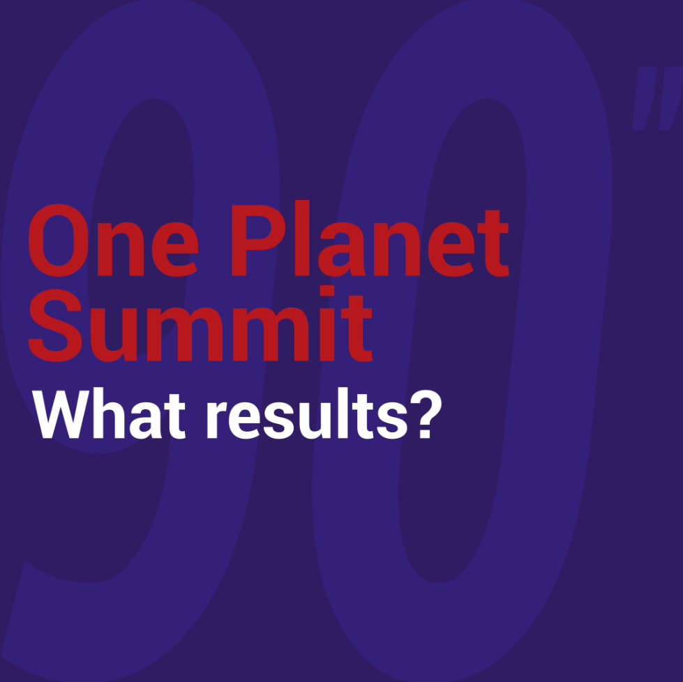 Annuler  Enregistrer les modifications One Planet Summit: what results?