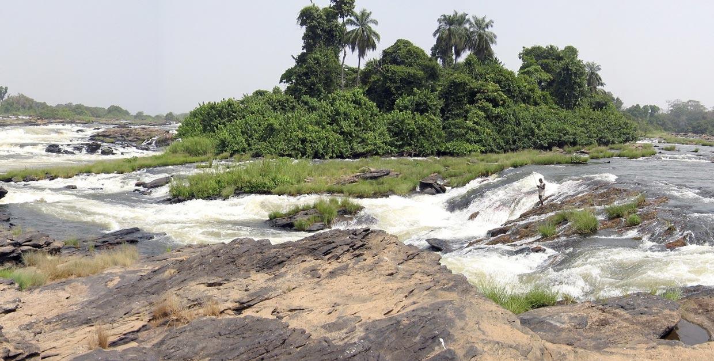chutes de Nachtigal, rivière Sanaga, Cameroun