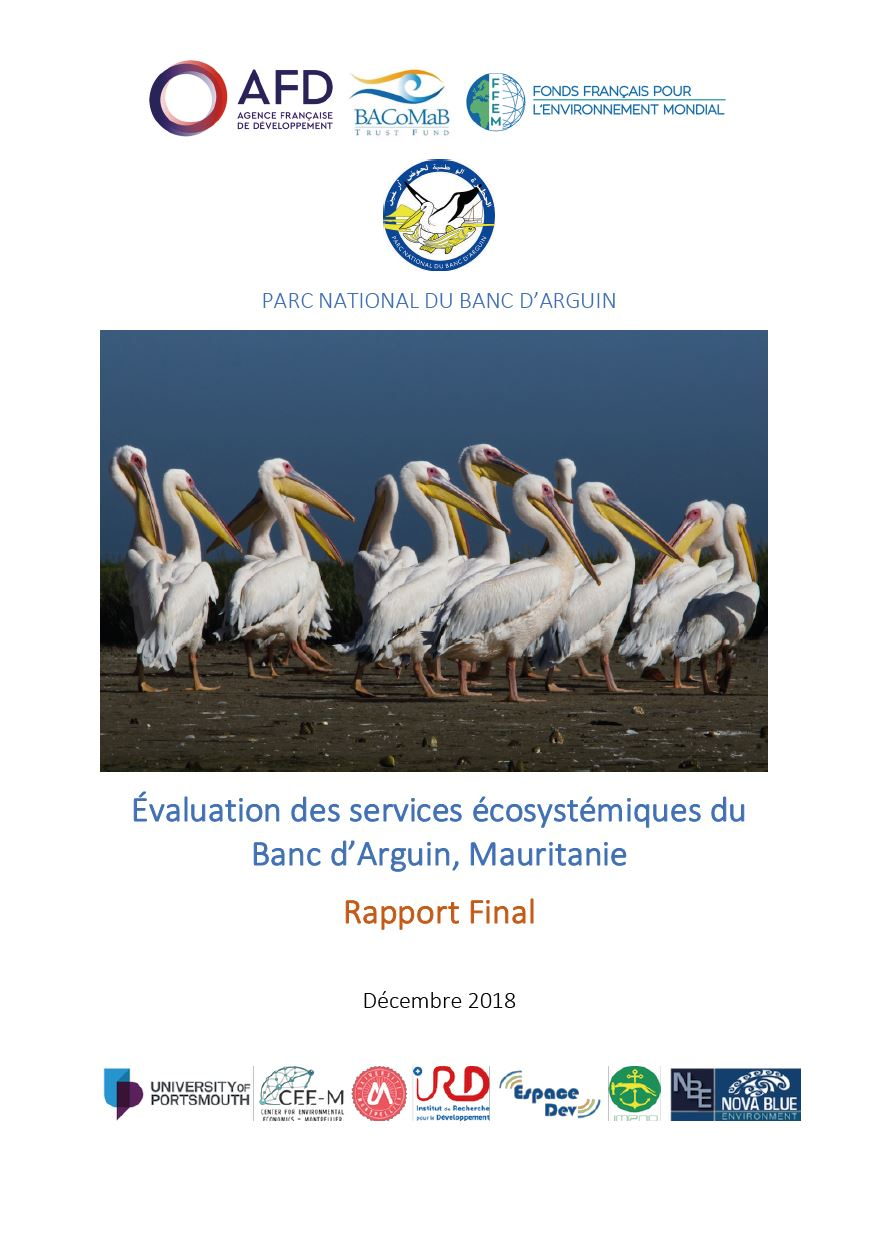 évaluation Des Services écosystémiques Du Banc Darguin Mauritanie
