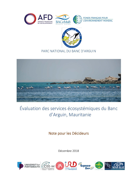 Évaluation des services écosystémiques du Banc d'Arguin, Mauritanie (note pour les décideurs)