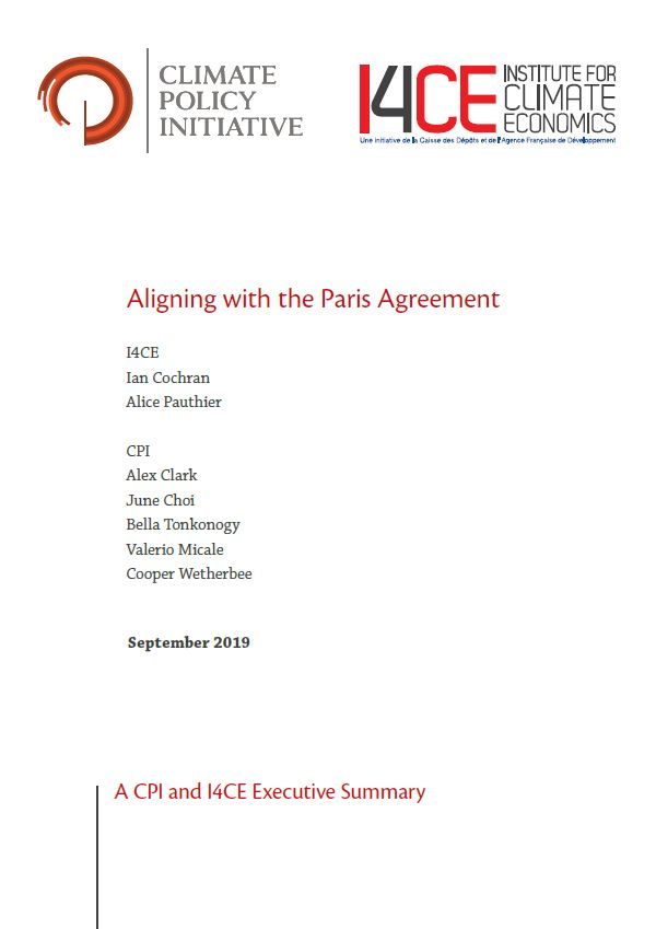 Aligning with the Paris Agreement -A CPI and I4CE Executive Summary