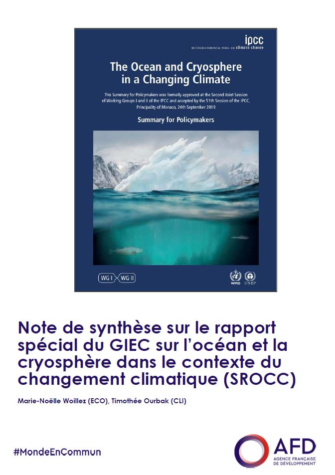 Note de synthèse sur le rapport spécial du GIEC sur l'océan et la cryosphère dans le contexte du changement climatique (SROCC)