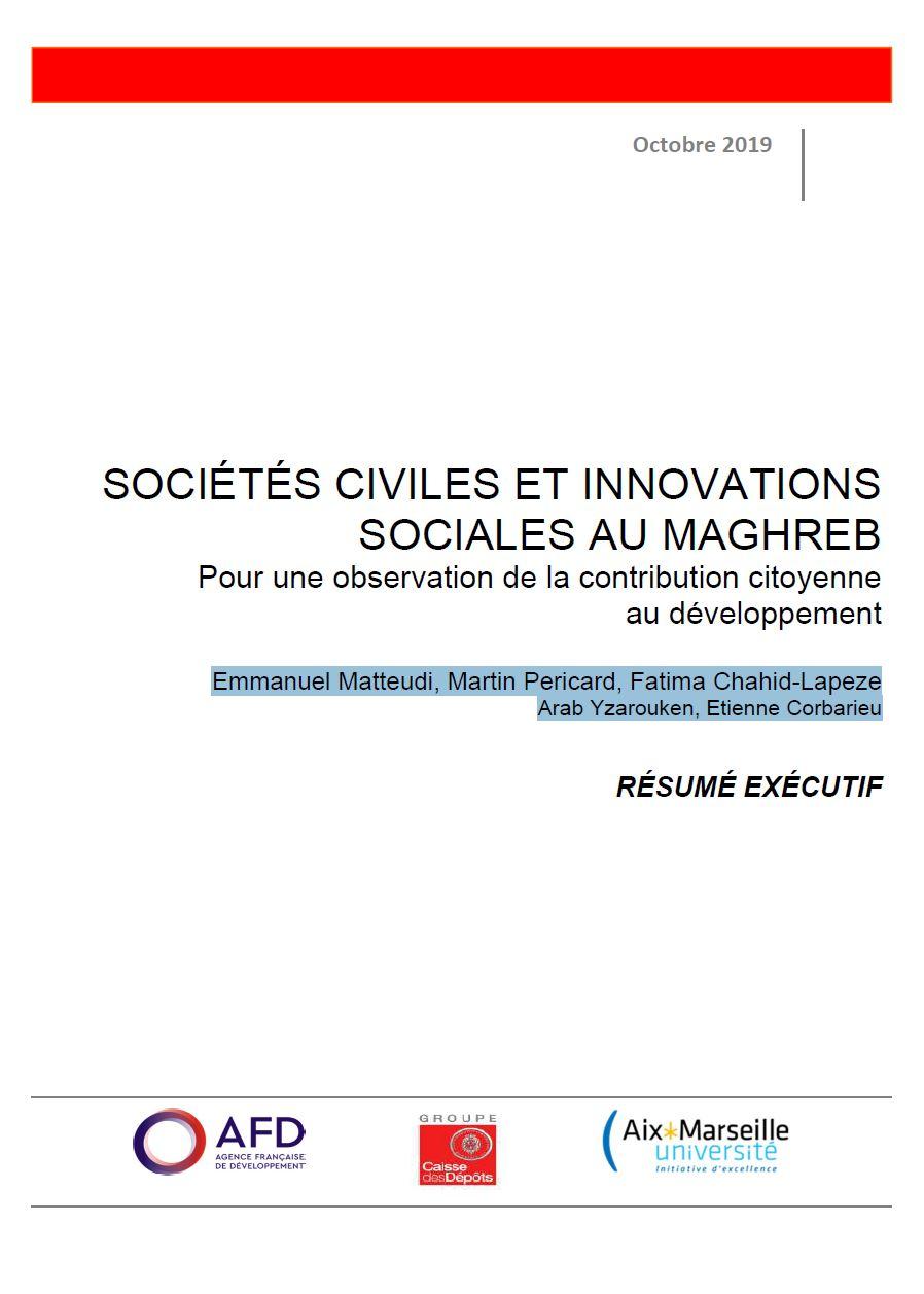 Sociétés civiles et innovations sociales au Maghreb : pour une observation de la contribution citoyenne au développement