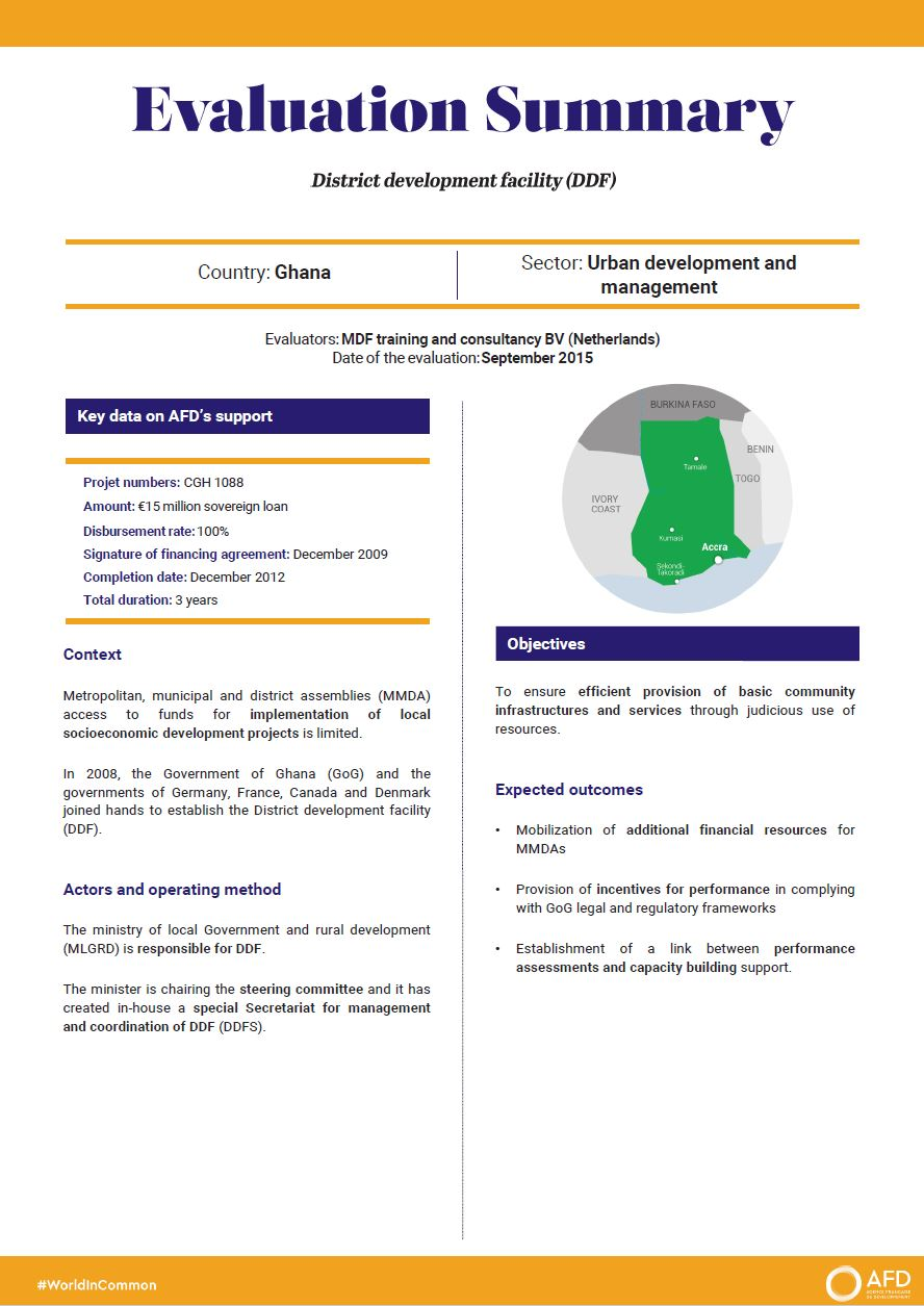 Evaluation Summary - District development facility (DDF), Ghana