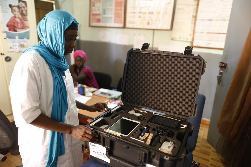 Sénégal valise connecté santé Amref