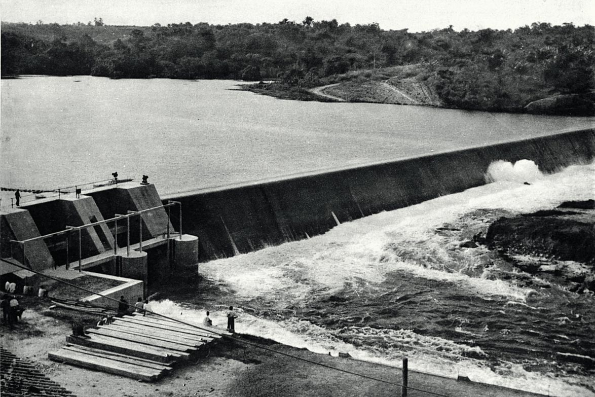 Hydroelectric dam in the Congo, 1950 © AFD