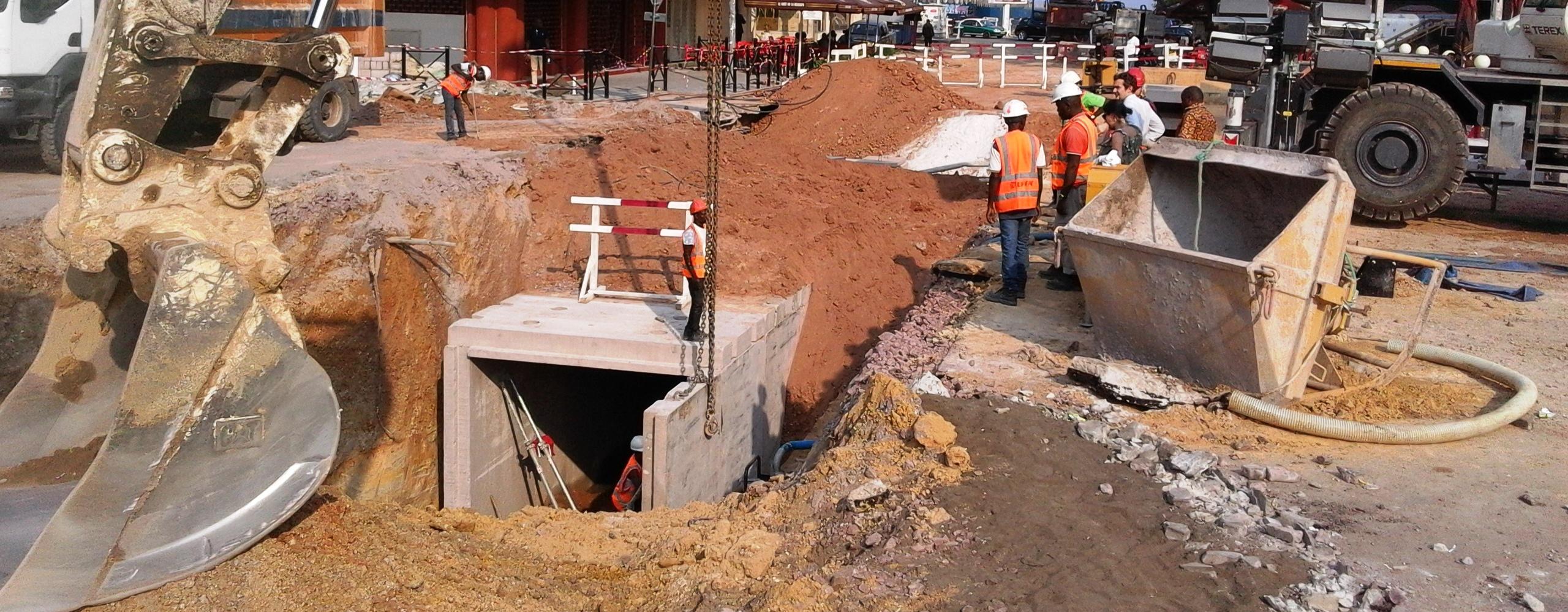 Travaux de drainage dans le centre-ville de Brazzaville