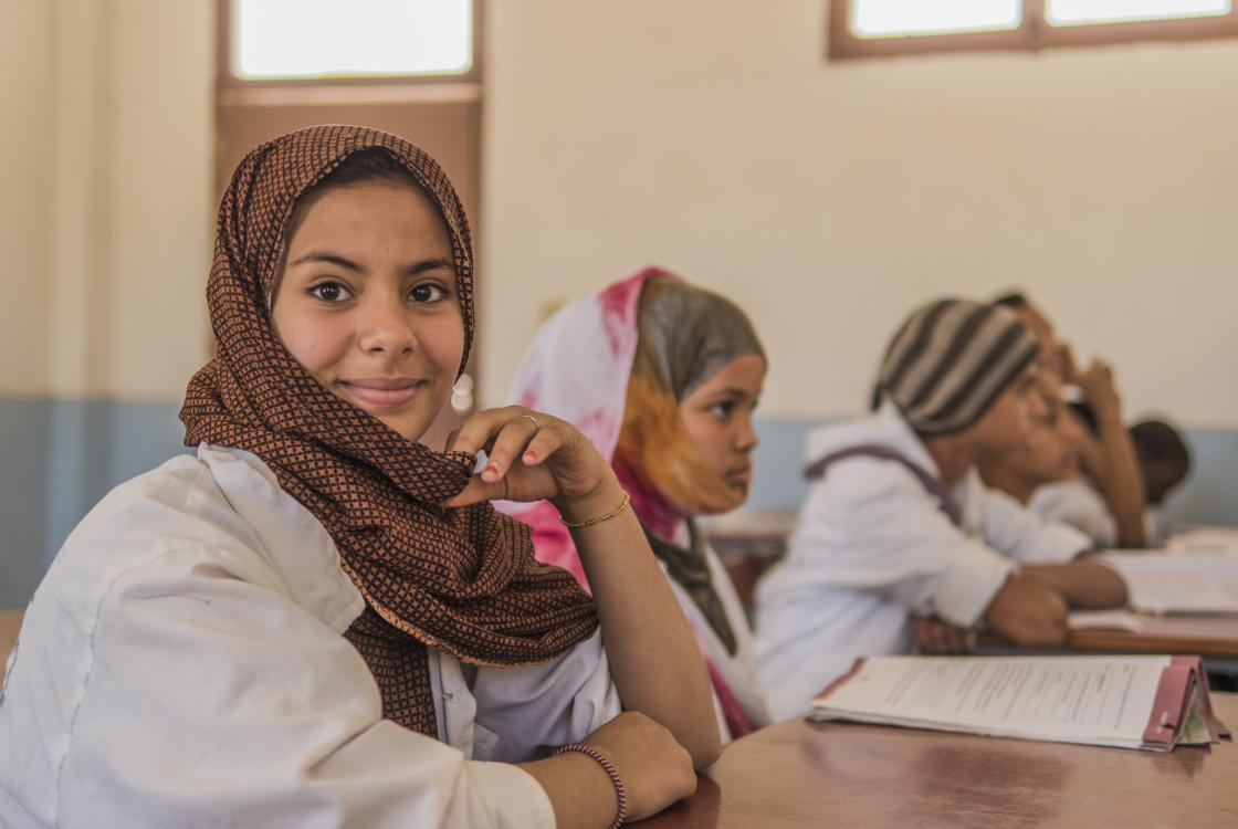 Students of the Arafatt high school, Nouakchott, Mauritania