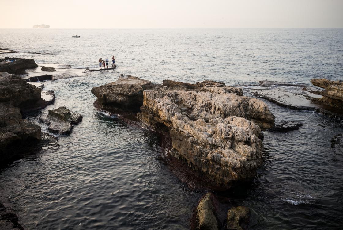 Vue sur la corniche de Beyrouth, Liban