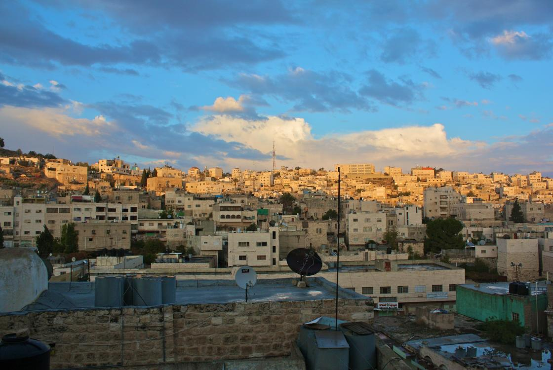 view Hebron city, Palestinian Territories