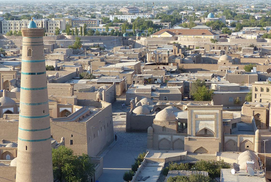 Ouzbékistan, ville, Khiva, Minaret