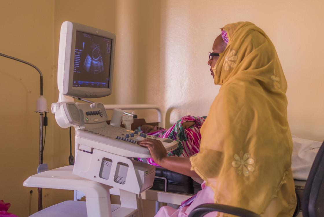 Ultrasound scan, Ryad health center, Mauritania