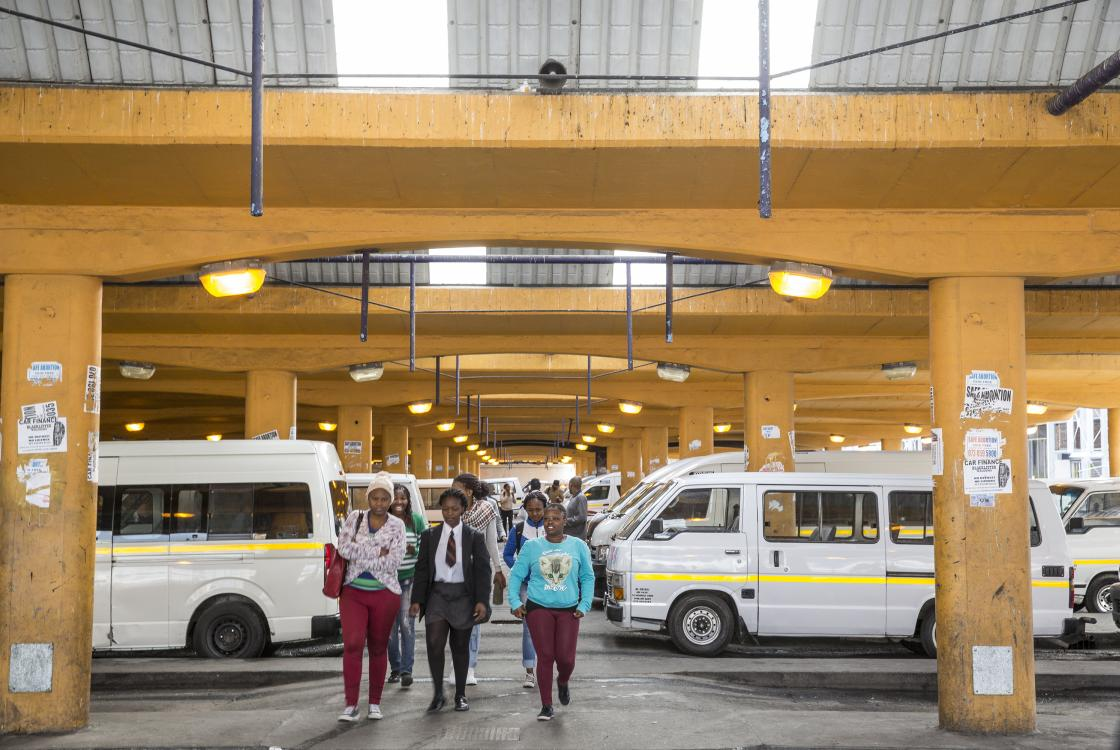 Cape Town minibus station (South Africa)