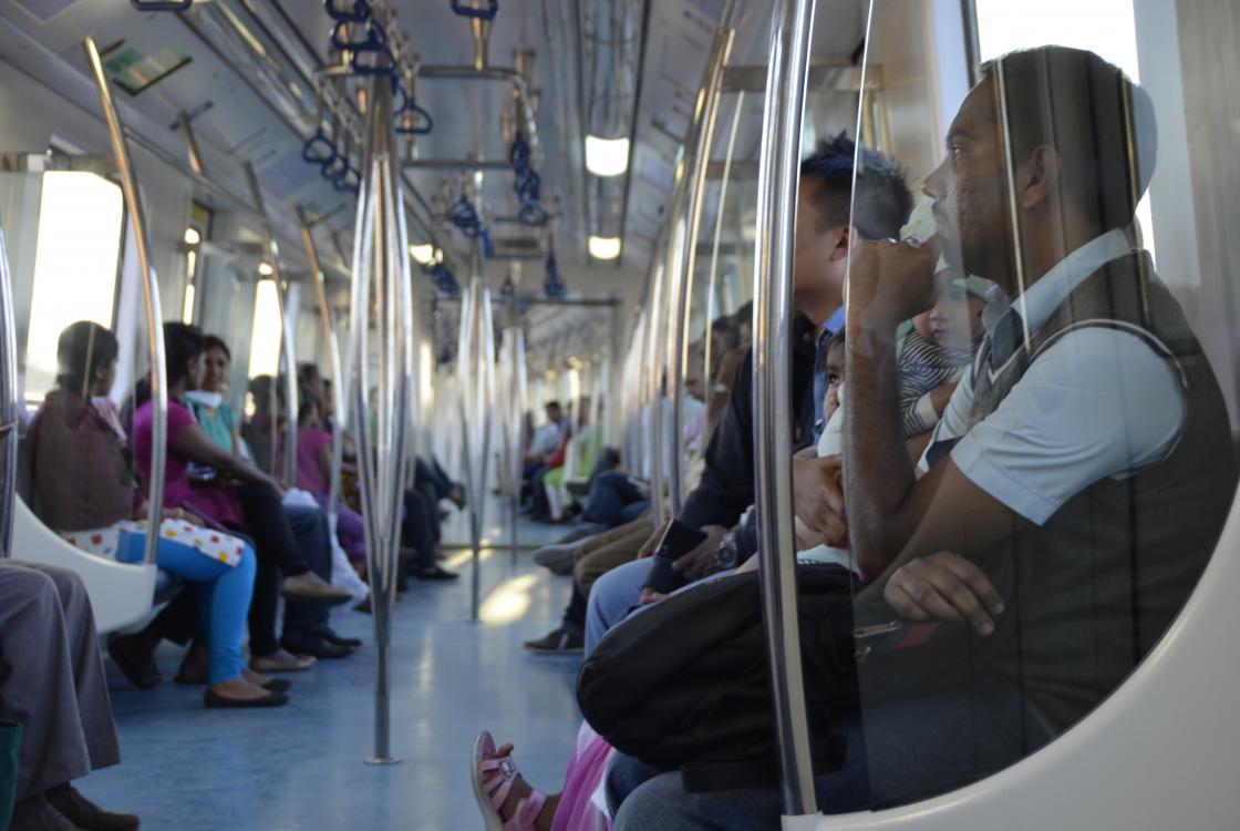métro, transport, Bangalore, Inde