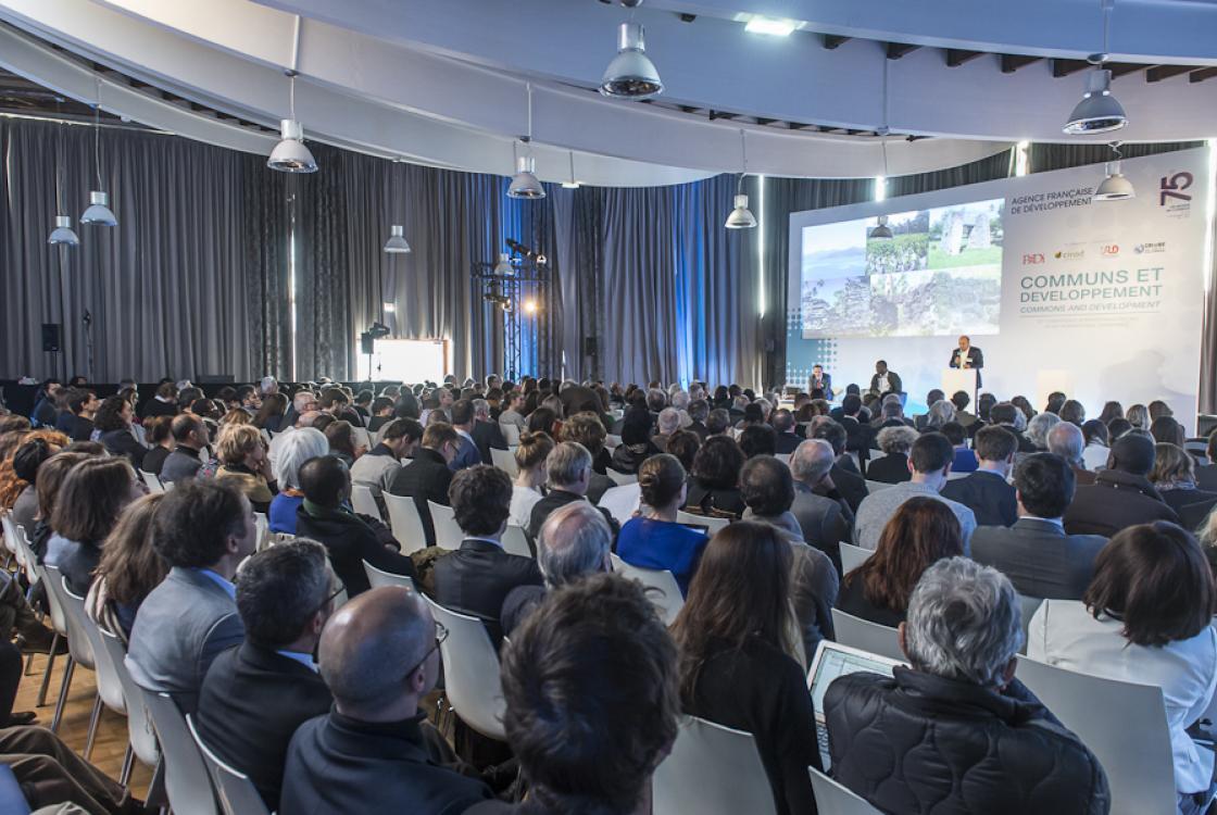 Lors de la 12ème conférence internationale sur le développement sur le thème des communs, en décembre 2016