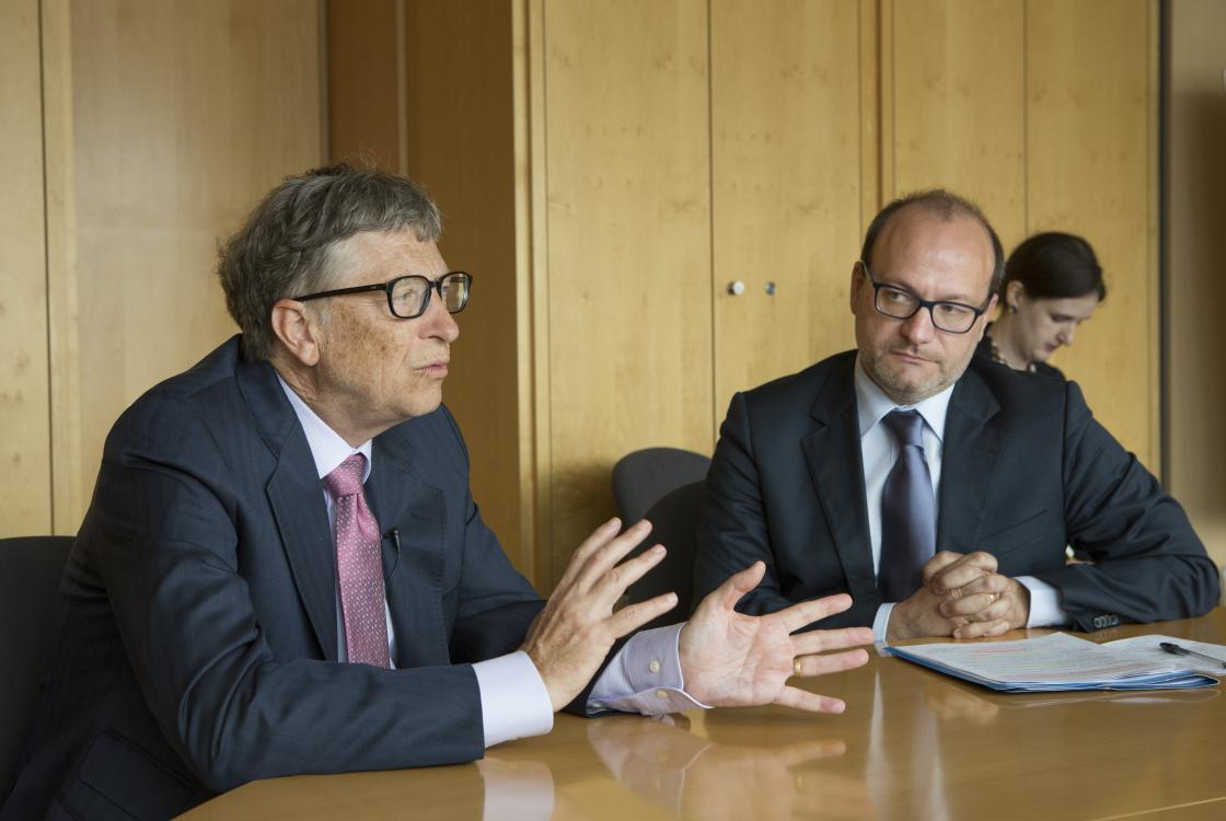 Meeting Bill Gates and Rémy Rioux