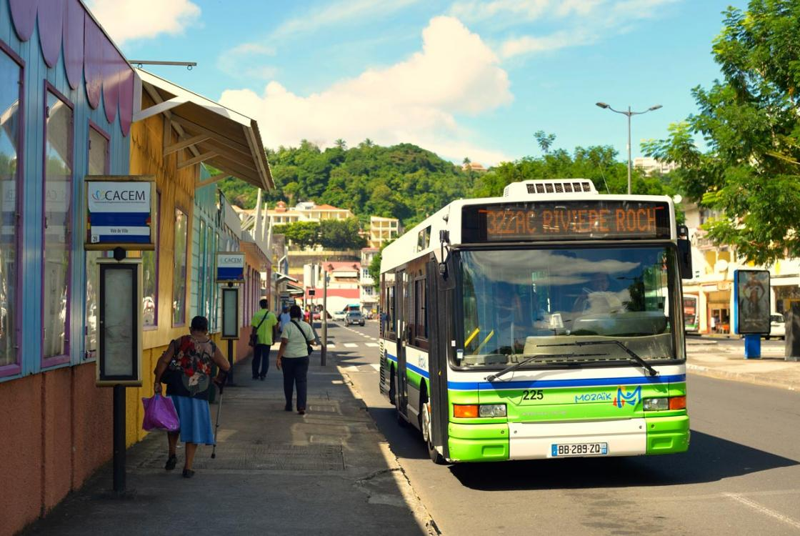 bus, rue, ville, Martinique