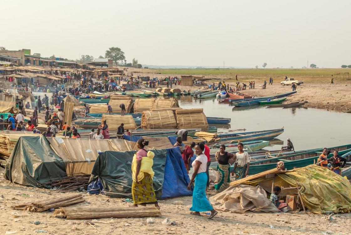 marché de Mongu, Zambie