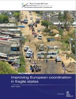 Improving European coordination in fragile states