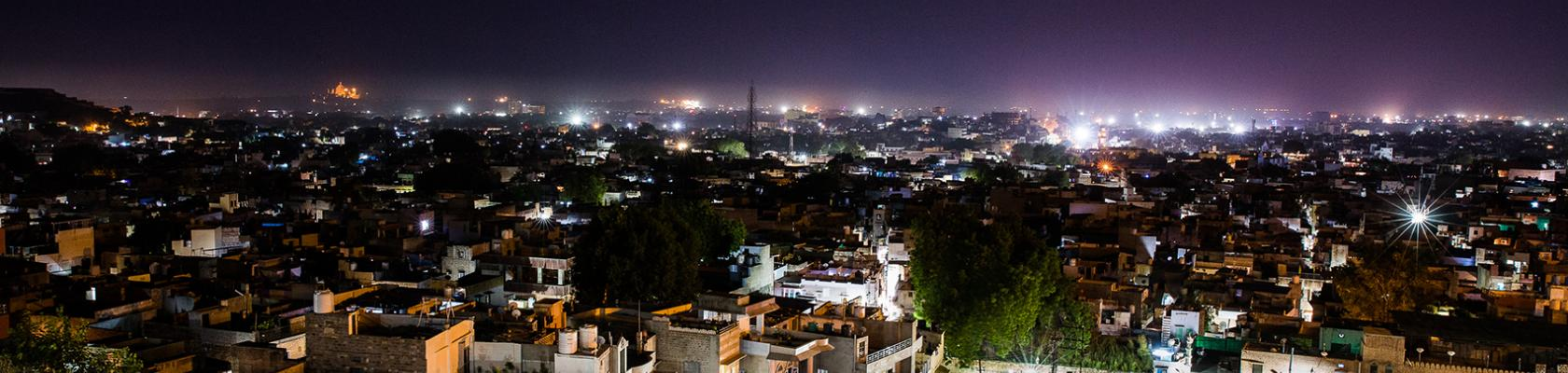 India, Jodhpur, Chandra, view of the city