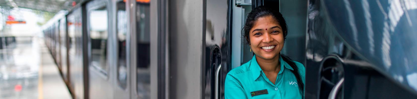 our social responsibility, Kochi metro, India, woman