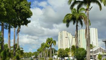 Paysage urbain, Pointe à Pitre, Guadeloupe