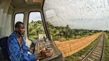 conducteur, train, transport, Transgabonais, Gabon