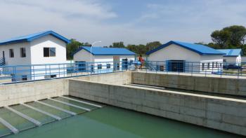 Okpoma, station d'eau, projet eau Afrique, Nigéria, Vanuxem