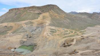 Chantier barrage de Vedi, irrigation, agriculture, Arménie