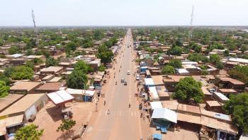 Resurfaced road, Ouagadougou, Burkina Faso