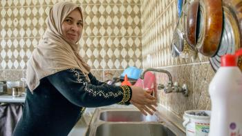 accès eau Jordanie cuisine femme