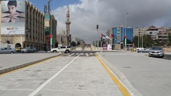 bus, réseau, route, Amman, Jordanie, transport