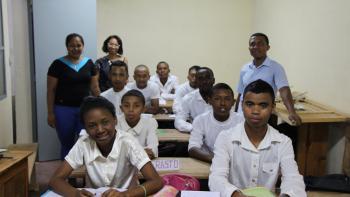 élèves de CAP du lycée technique Mahamasina d'Antananarivo, Madagascar, formation professionnelle