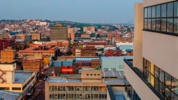 paysage urbain, Johannesburg, Afrique du Sud
