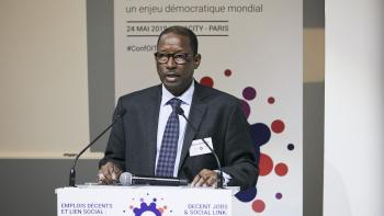 AFD conference decent employment ILO social link future work Moussa Oumarou