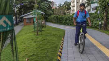 Kochi piste cyclable vélo Inde ville futur