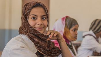 Mauritanie, Nouakchott, lycée Arafatt, fille