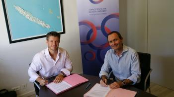 signature of the New Caledonia convention AFD Adie
