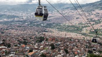 Métro-câble de la ville de Medellín