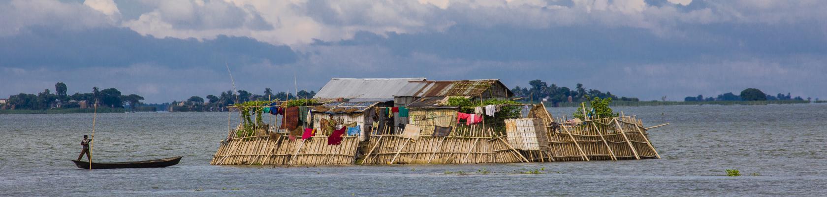 Le village inondé de Shohila, Bangladesh