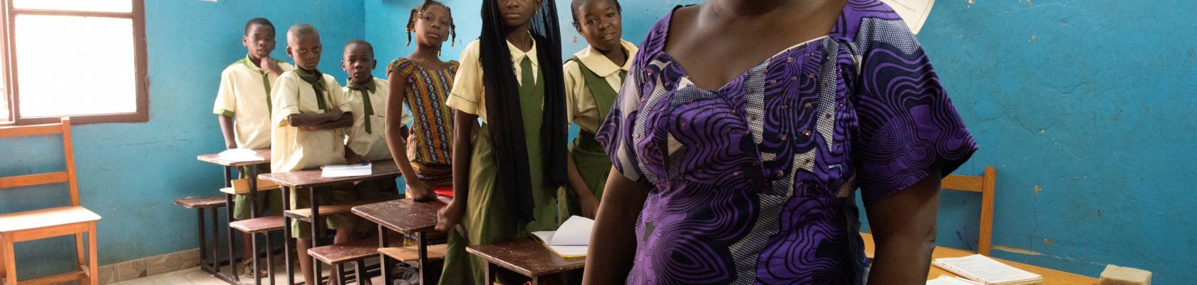 """Au cœur d'une école bilingue """"Excellence Learning school"""" à Niamey, Niger"""