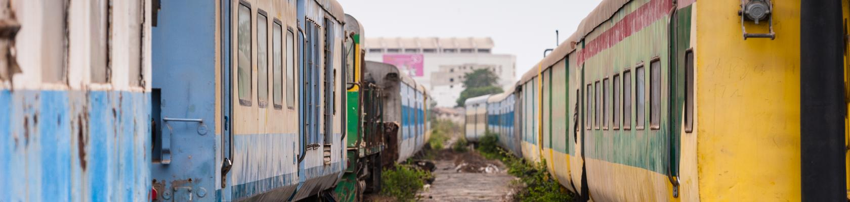 old trains in Dakar, Sénégal