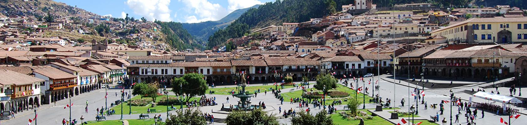 Peru, Cuzco, main square, city
