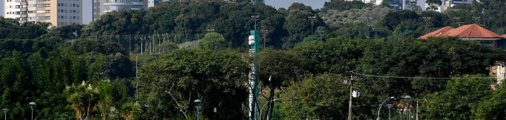 Parc Barigui, situé au coeur de la ville de Curitiba. Ville durable, Brésil