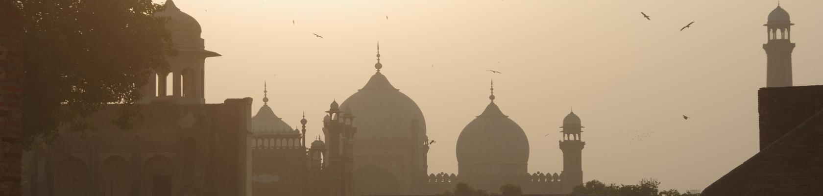 Lahore, vue, ville, Pakistan