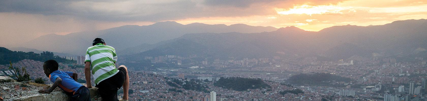 Latin America, view on Medellin, Colombia