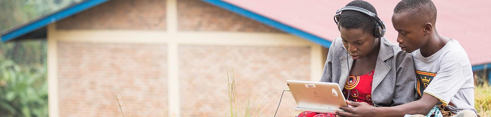 children, digital education, Burundi
