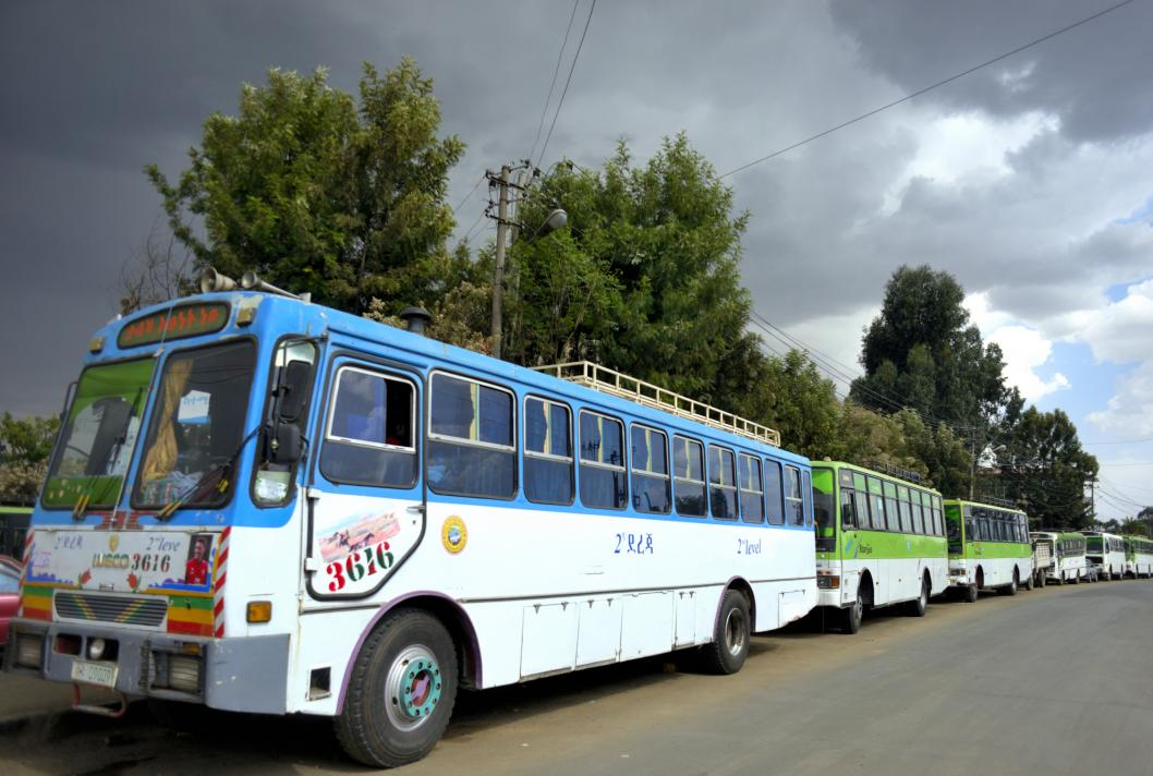 bus, Addis-Abeba, Ethiopie, transport